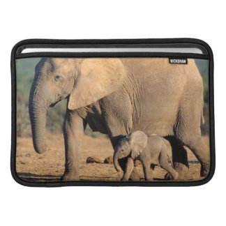 An African Elephant mother and calf on the move Sleeve For MacBook Air