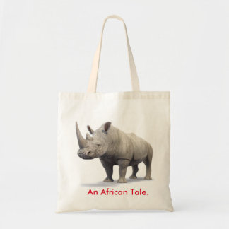 An African Tale Rhino Tote Bag