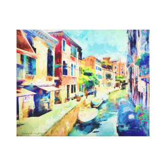 An Afternoon By The Canal Canvas Print
