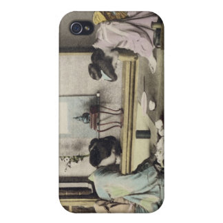 An Afternoon Call, c.1880 (hand coloured albumen p iPhone 4 Cases