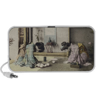 An Afternoon Call, c.1880 (hand coloured albumen p Portable Speaker