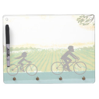 An Afternoon Ride Dry Erase Board With Key Ring Holder