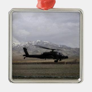 An AH-64A Apache taking off Christmas Ornament