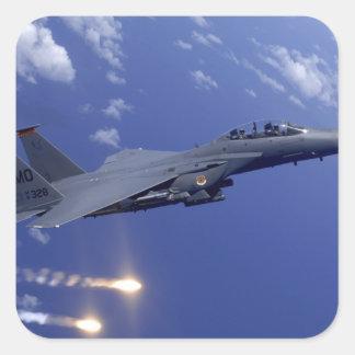 An Air Force F-15E Strike Eagle Square Sticker