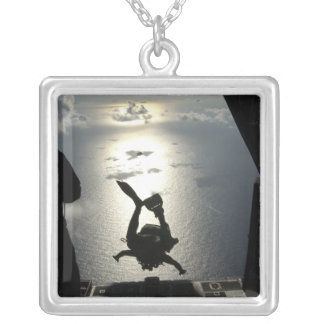An Air Force pararescueman Silver Plated Necklace
