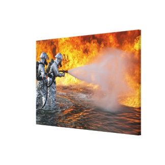 An aircraft rescue firefighting team canvas print