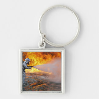 An aircraft rescue firefighting team key ring