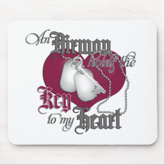 An Airman holds the Key to my Heart Mouse Mat