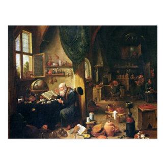 An Alchemist in his Workshop Postcard