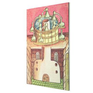 An alchemist's water-bath or bain-marie canvas print