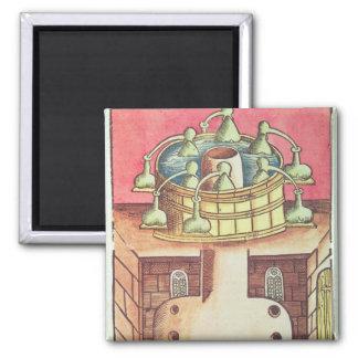 An alchemist's water-bath or bain-marie fridge magnets
