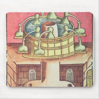 An alchemist's water-bath or bain-marie mouse mat