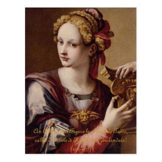An Allegorical Figure Greeting Card Postcard