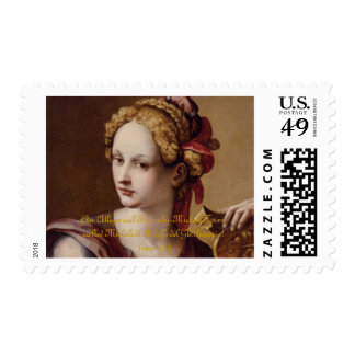 An Allegorical Figure Postage Stamp
