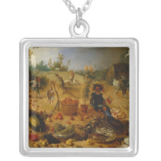 An Allegory of Autumn Silver Plated Necklace