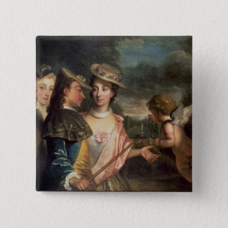An Allegory of Courtship 15 Cm Square Badge