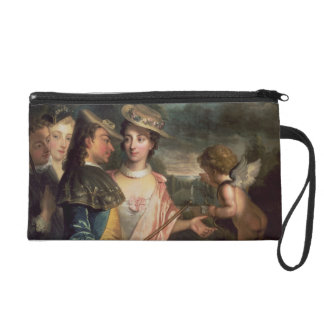 An Allegory of Courtship Wristlet Purse