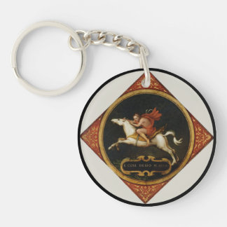 An Allegory of Passion Single-Sided Round Acrylic Key Ring