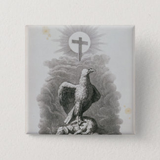 An Allegory of Rome 15 Cm Square Badge
