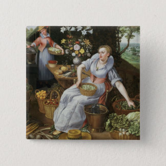 An Allegory of Summer 15 Cm Square Badge