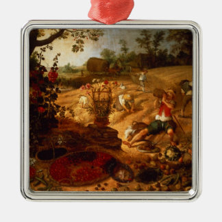 An allegory of Summer Christmas Ornament