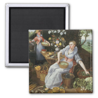 An Allegory of Summer Square Magnet