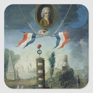 An Allegory of the Revolution Square Sticker
