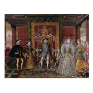 An Allegory of the Tudor Succession: The Family of Postcard