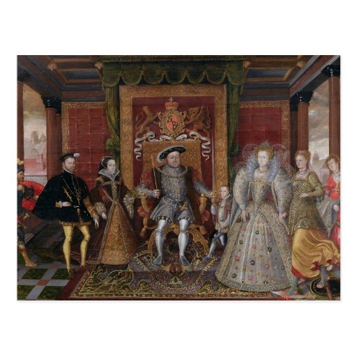 An Allegory of the Tudor Succession: The Family of Post Card
