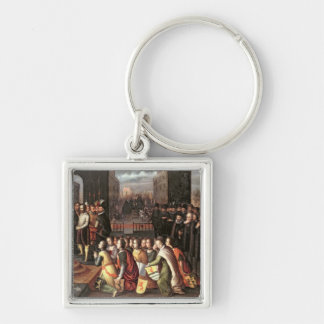 An Allegory of the Tyranny of the Duke of Alba Silver-Colored Square Key Ring