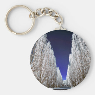 An alley in infrared basic round button key ring