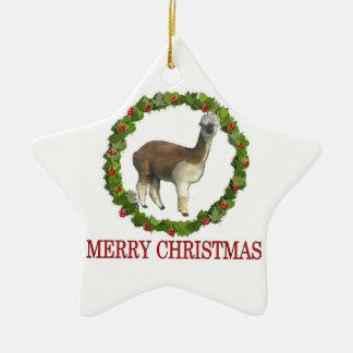 An Alpaca Merry Christmas Christmas Ornament