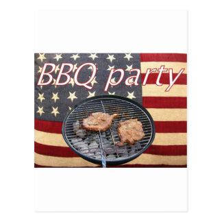 An American BBQ party Postcard
