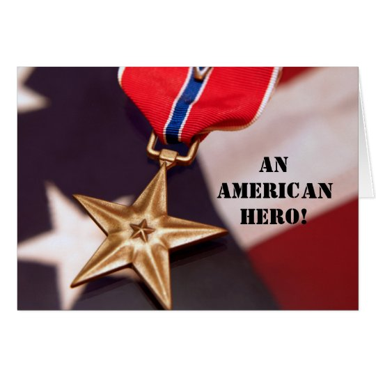 An American Hero! Card