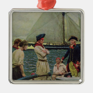 An American Privateer Taking a British Prize Christmas Ornament