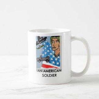 AN AMERICAN SOLDIER MUG
