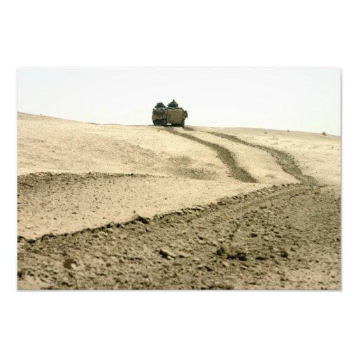 An amphibious assault vehicle photo print