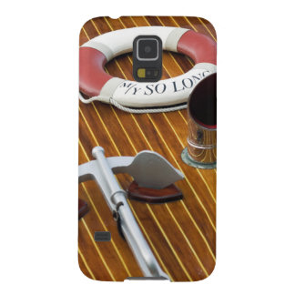 An Anchor And A Life-Buoy On A Wooden Boat Galaxy S5 Case