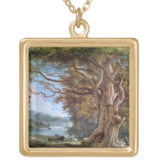 An Ancient Beech Tree, 1794 (oil on canvas) Gold Plated Necklace