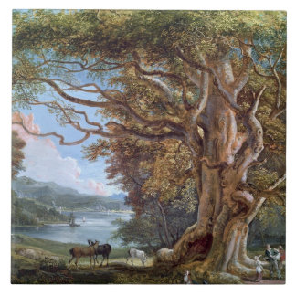 An Ancient Beech Tree, 1794 (oil on canvas) Tile