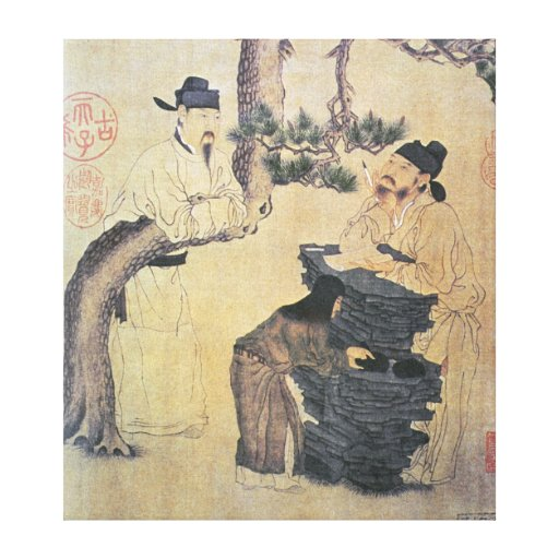 An Ancient Chinese Poet Stretched Canvas Print