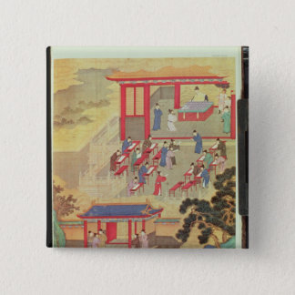 An Ancient Chinese Public Examination 15 Cm Square Badge
