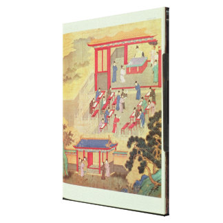 An Ancient Chinese Public Examination Canvas Print