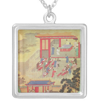 An Ancient Chinese Public Examination Silver Plated Necklace