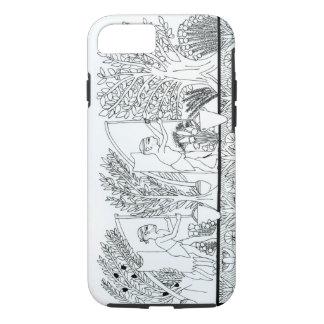 An ancient Egyptian garden (engraving) (b/w photo) iPhone 8/7 Case