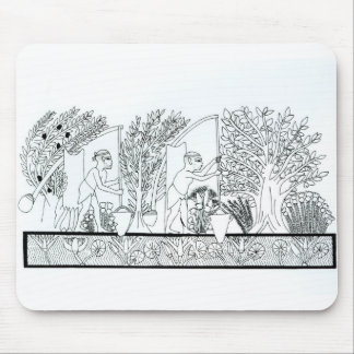 An ancient Egyptian garden (engraving) (b/w photo) Mouse Pad