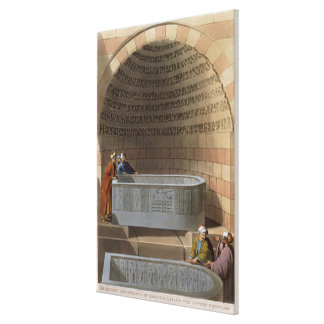 An Ancient Sarcophagus of Basaltes, called the Lov Canvas Print