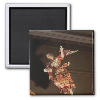 An angel above the altarpiece square magnet