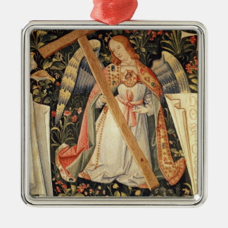 An angel carrying the cross christmas ornament