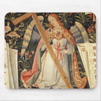 An angel carrying the cross mouse pad